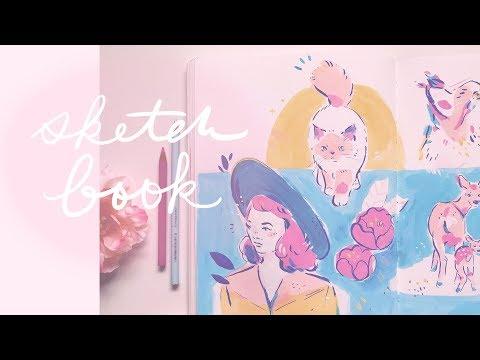 Sketchbook Spread - Drawing Everything ✨