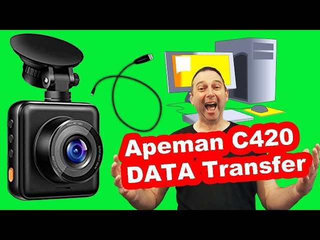 Apeman C420 Dash Cam download DATA to your PC