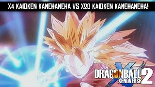 Dragon Ball Xenoverse 2 - x4 Kaioken Kamehameha vs x20 Kaioken Kamehameha