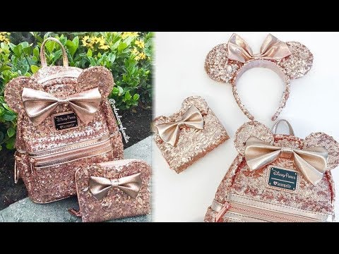 Disney Debuts New SEQUIN Rose Gold Minnie Mouse Backpack Line