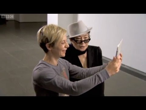 Yoko Ono at Serpentine Gallery, London with Miranda Sawyer on BBC TV's The Culture Show