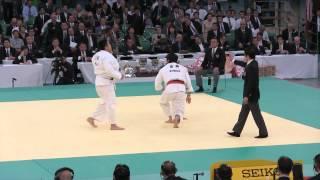 2回戦 影浦心 VS 齋藤俊 2014 全日本柔道選手権大会