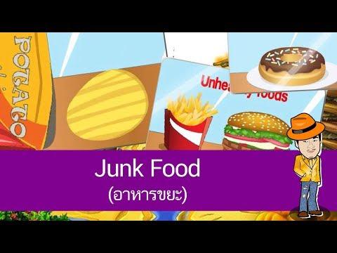 Junk Food (อาหารขยะ) - สื่อการเรียนการสอน ภาษาอังกฤษ ป.4