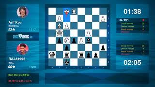 Chess Game Analysis: Arif Kpc - RAJA1995 : 0-1 (By ChessFriends.com)