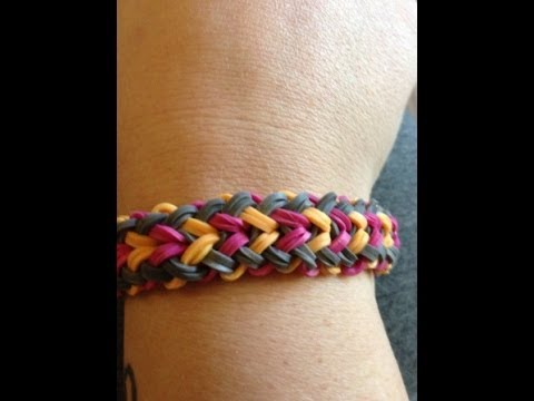 How To Make A Rainbow Loom Small Basket Weave Bracelet