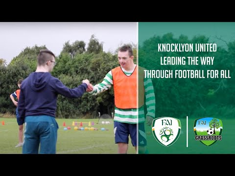 Knocklyon United leading the way through their Football For All programmes