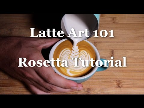 Rosetta Latte Art Tutorial - Latte Art 101 - Coffeefusion