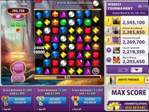 [Bejeweled Blitz][Elite Technique] Incredible 1.458.950 Cat's Eye game !