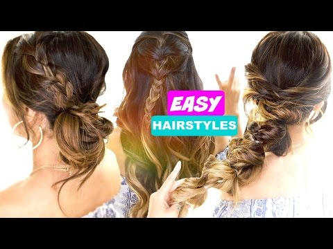 easy quick hair styles 3 easy back to school hairstyles hairstyle 8613 | hqdefault