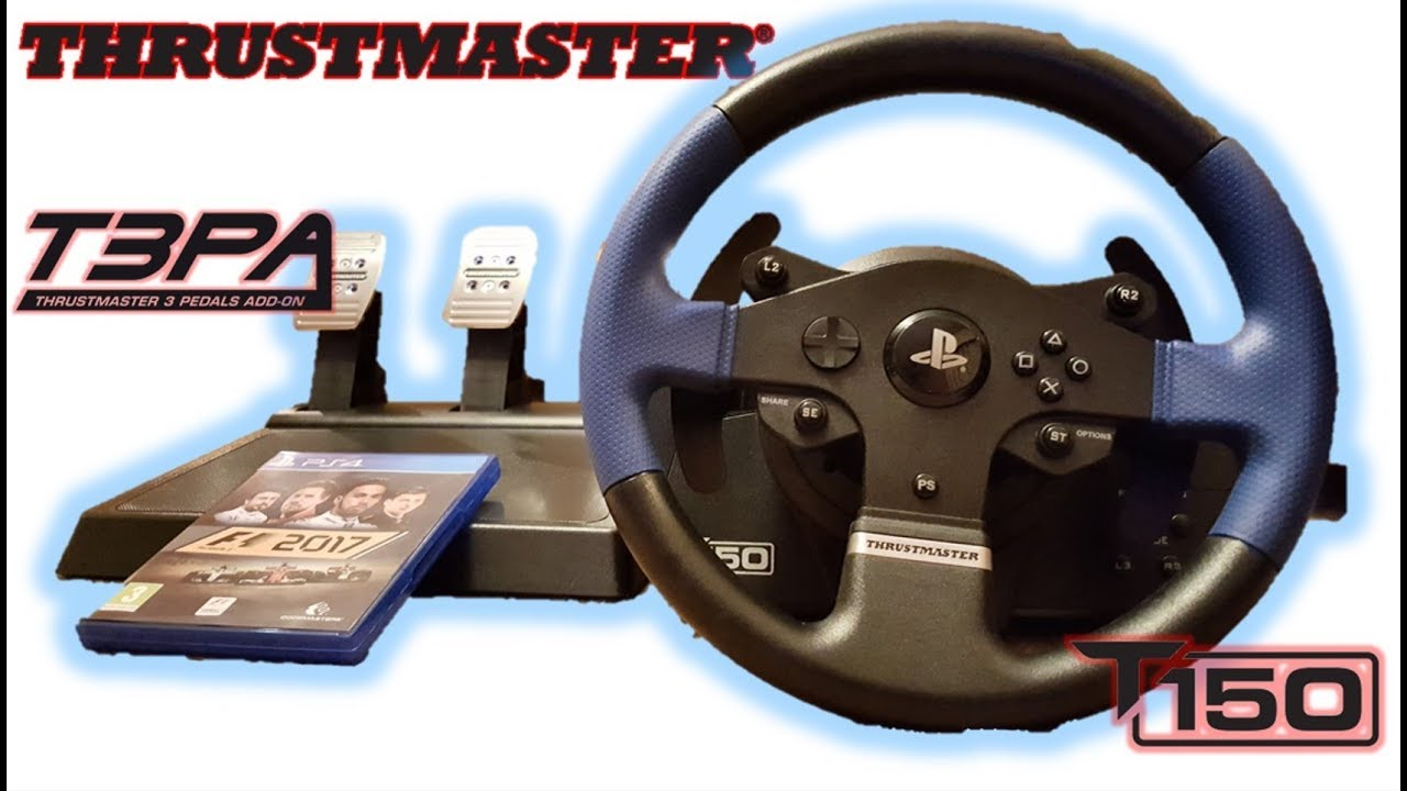 THRUSTMASTER T150 PRO (T3PA PEDALS) 2018 UNBOXING (PS4/PS3/PC)