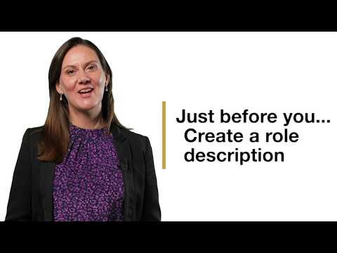 Just Before You... create a role description