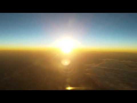 Beijing - Honolulu sunrise from the airplane!