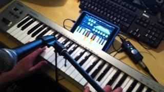 Demonstration of iVoxel iPad iOS Vocoder IK Multimedia iRig Pro Get Lucky Live
