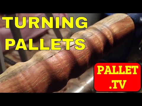 Turning pallet wood