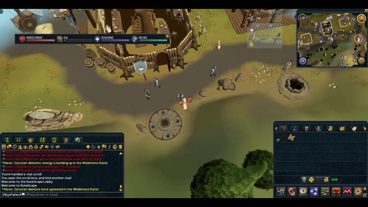 Runescape In A Place Of Great Wealth In The Town Youtube