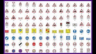 Learning traffic signs uk, road signs uk ,driving signs, yield sign