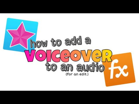how to add a voiceover to an audio for an edit.