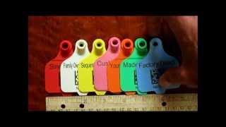 Data Matrix Codes on Various Plastic Tags