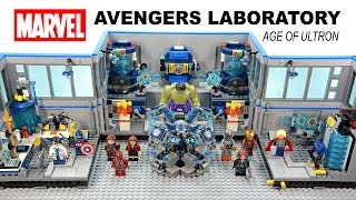 Marvel's Avengers Science Laboratory Age of Ultron Unofficial LEGO KnockOff Set Speed Build