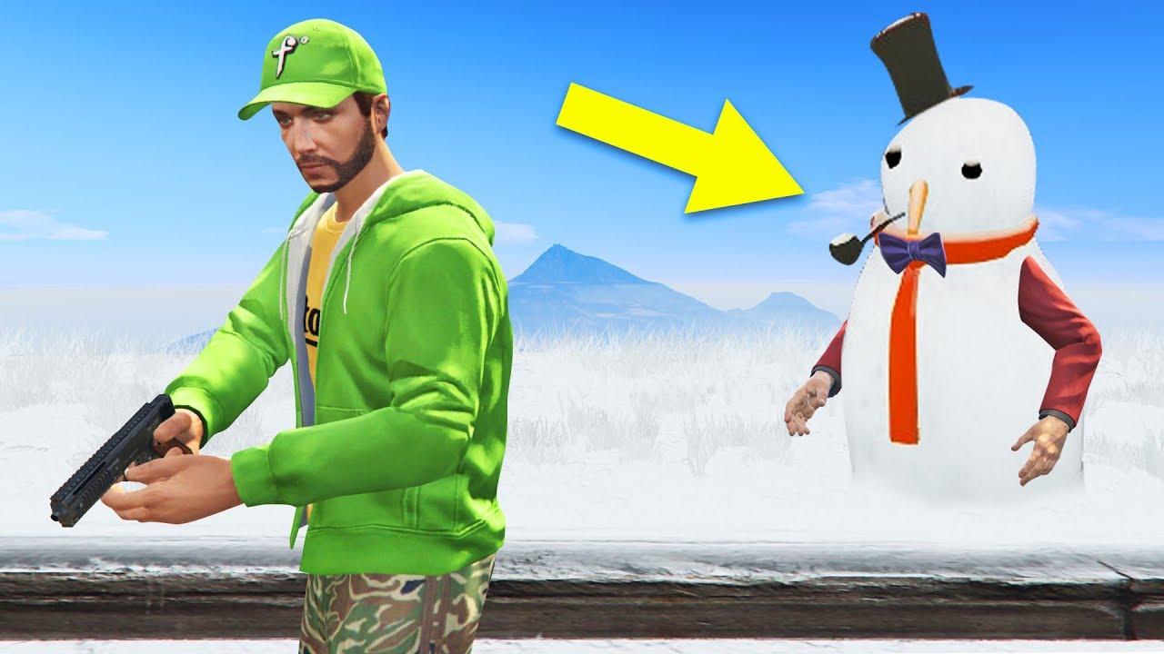 HIDE & SEEK in the SNOW!? - GTA 5 Online