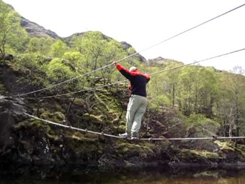 The Wire-Rope Bridge In Glen Nevis (Scoctland) - YouTube