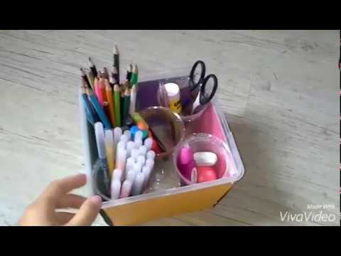 How to make a pencil box ? Easy tutorial .