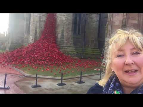 The Weeping Window of Poppies at Hereford Cathedral