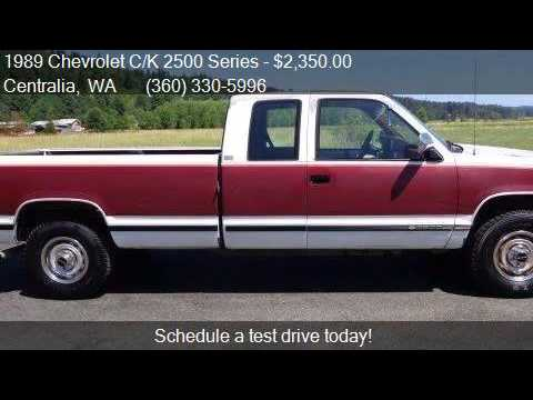 1989 Chevrolet CK 2500 Series K2500 Cheyenne for sale in Ce  YouTube