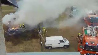 Pożar na Konarzewskiego - 19.02.2018