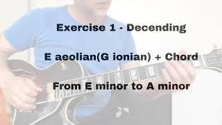 singel lines & chords emi7 to ami7