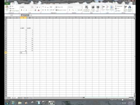 extrapolation in excel