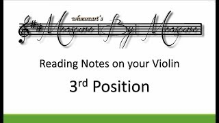 Notes On Violin (3rd Position)