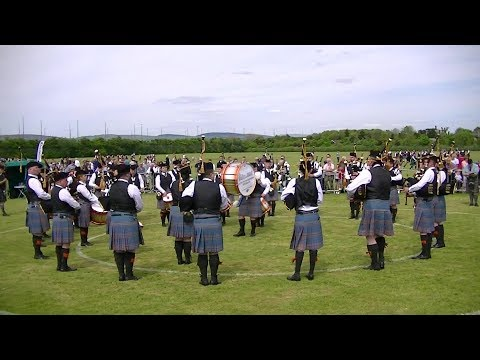CITY OF INVERNESS PIPE BAND AT THE BRITISH PIPE BAND CHAMPIONSHIPS