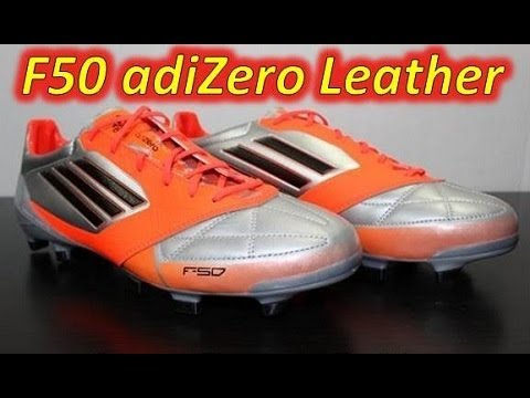 timeless design 095b0 b12a3 Adidas F50 adizero miCoach Leather Metallic Silver Infrared Black -  UNBOXING - YouTube