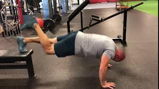 EricCressey.com: 1-leg Feet-Elevated Yoga Push-up