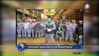 El emotivo mensaje de los trabajadores de Tandanor