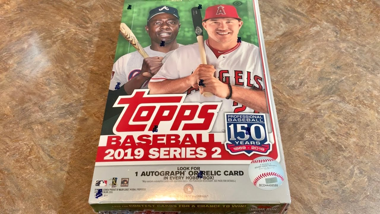 New Release 2019 Topps Series 2 Hobby Box Opening