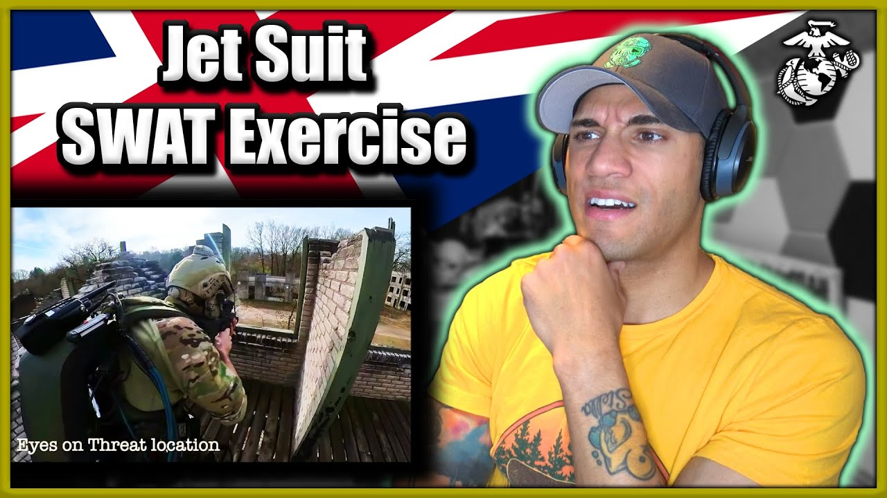 Marine reacts to Jet Suit SWAT Exercise