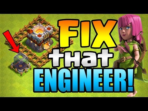 CAN'T FIND LOOT!  FIX That ENGINEER ep2   Clash of Clans