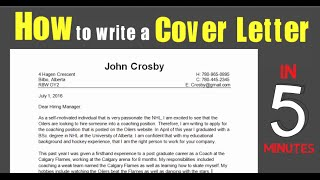 How (not) to write a Cover Letter (with sample letter/example)