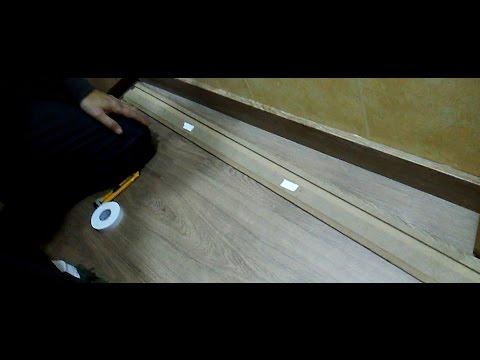 Como poner un z calo o rodapie de madera sin clavos youtube - Rodapie de madera ...