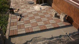 видео Варианты укладки тротуарной плитки своими руками