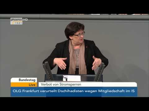 Bundestag: Stromsperren am 05.12.2014
