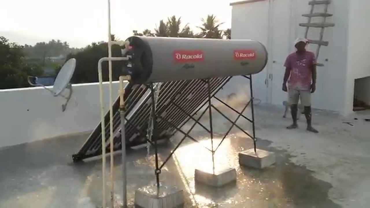 Racold Solar Water Heater Youtube