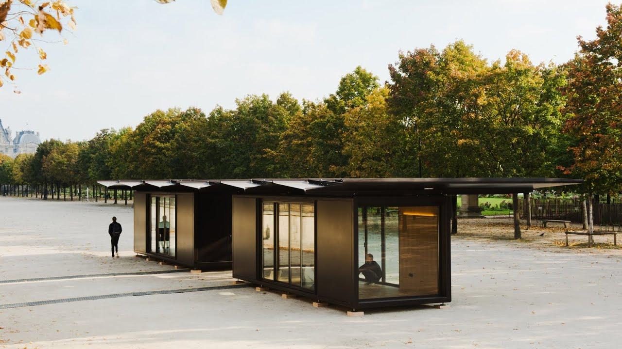 Bouroullecs install Kiosque steel pavilions for Paris\' FIAC