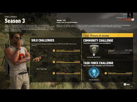 Ghost Recon Wildlands Season 3 Week 1 Task Force Challenge Complete Walk Through