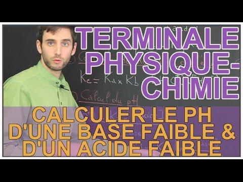 Calculer le pH d'une base faible & d'un acide faible - Physique-Chimie - Terminale - Les Bons Profs