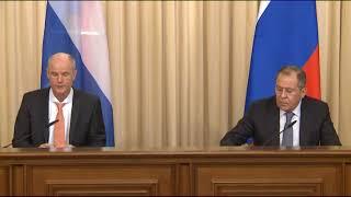 Пресс-конференция С.Лаврова и С.Блока