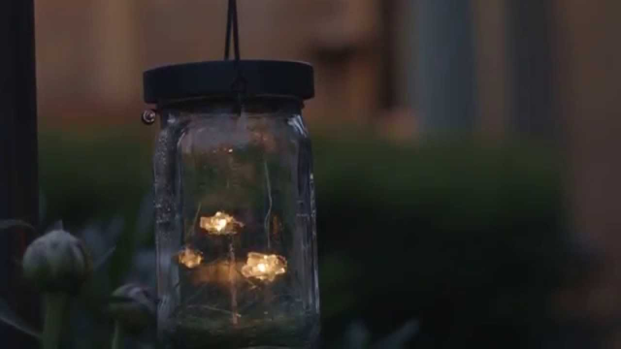 Firefly Jar Solar Lantern - YouTube for Fireflies In A Jar Cover Photo  303mzq