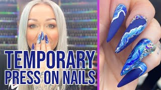 How to Design Your Own Press On Nails | Doing my own nails